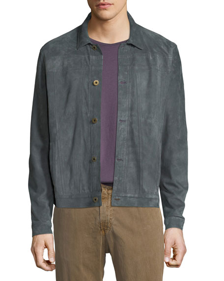 Billy Reid Cullen Button-Front Suede Jacket