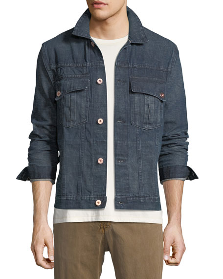 Billy Reid Clayton Selvedge Denim Jacket