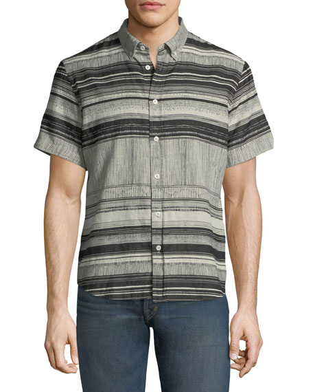 Murphy Striped Short-Sleeve Sport Shirt
