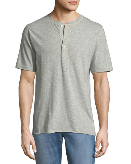 Billy Reid Hunter Short-Sleeve Henley Shirt