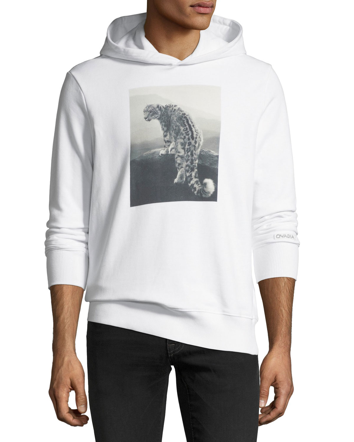 a87435248b54 Ovadia & Sons Snow Leopard Graphic Hoodie | Neiman Marcus