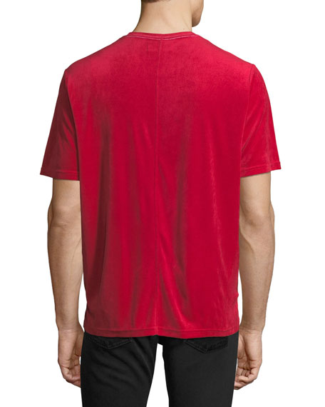 Velour Cotton T-Shirt