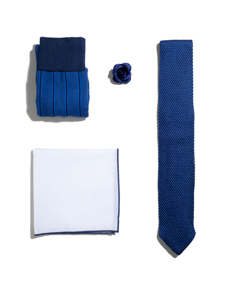 Shop the Look Suiting Accessories Set, Blue