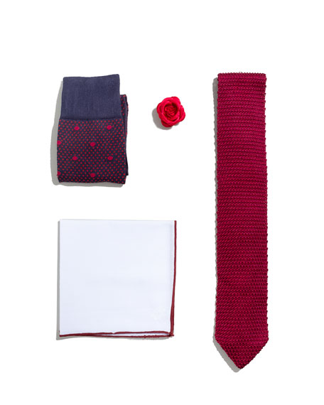 Shop the Look Suiting Accessories Set, Red