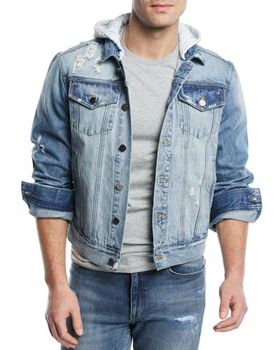 OS-2 Hooded Denim Jacket