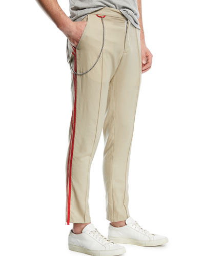 Sideline Track Pants with Striped Taping