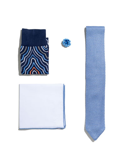 Shop the Look Suiting Accessories Set  Light Blue