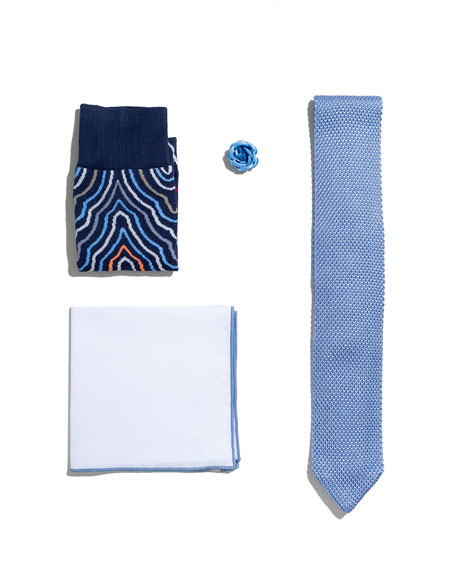 Shop the Look Suiting Accessories Set, Light Blue