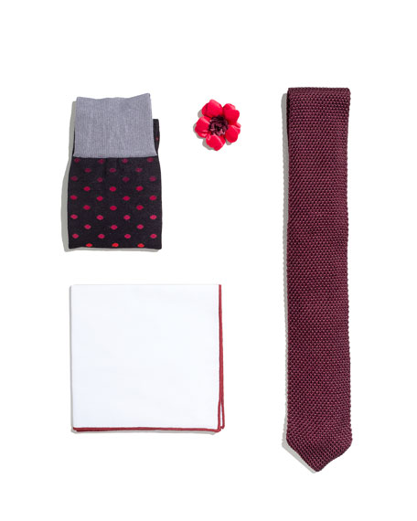 Shop the Look Suiting Accessories Set, Maroon