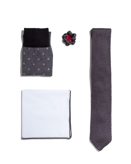 Shop the Look Suiting Accessories Set, Charcoal