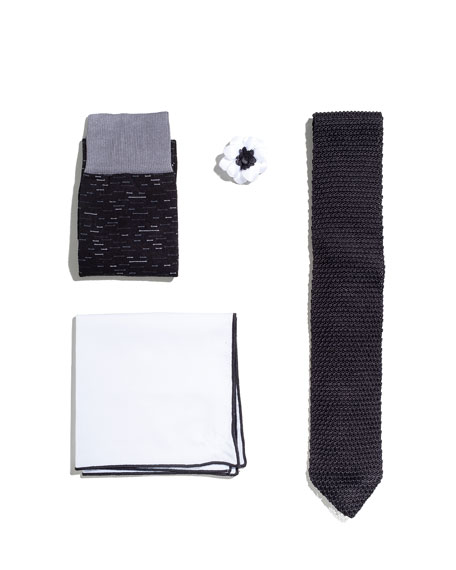 Shop the Look Suiting Accessories Set, Black