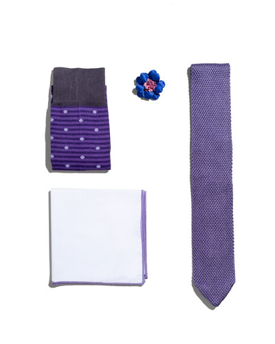 Shop the Look Suiting Accessories Set, Light Purple