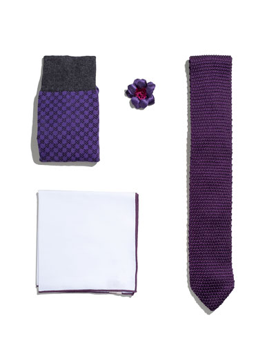 Shop the Look Suiting Accessories Set, Purple