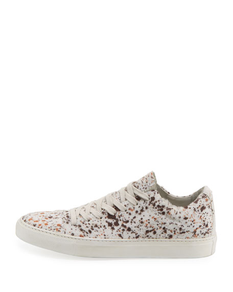 Men's Reed Calf-Hair Low-Top Sneakers