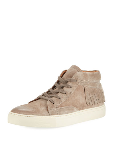 315 Fringed Suede Mid-Top Sneaker