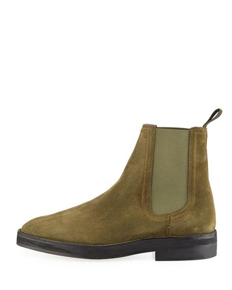Yeezy Suede Chelsea Boot, Green