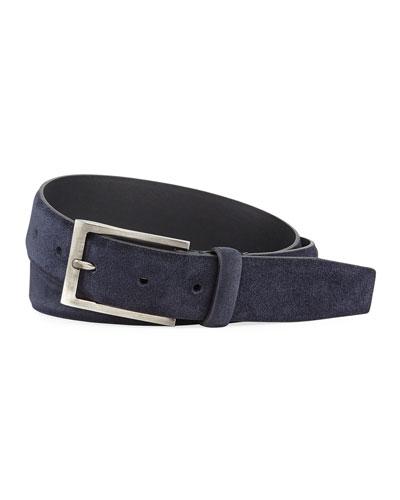 Men's Textured Suede Belt