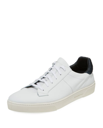 Leaf-Print Slip-On Sneakers
