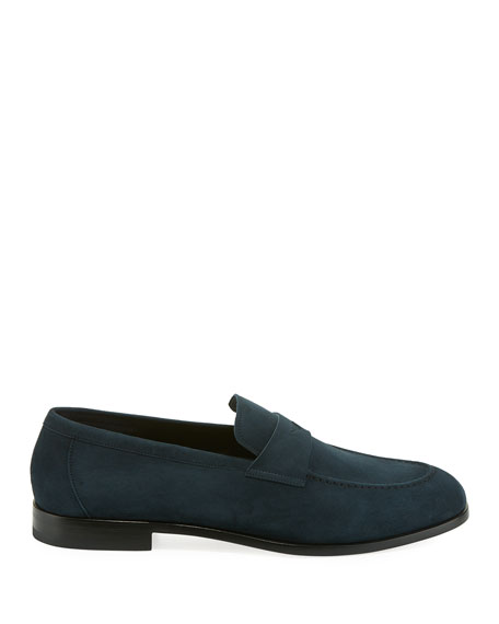 Men's Calf Suede Penny Loafer Shoe