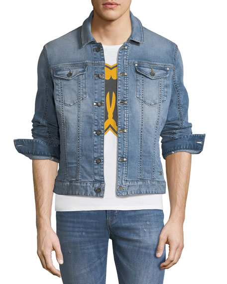 John Varvatos Star USA Rivet-Detail Denim Trucker Jacket