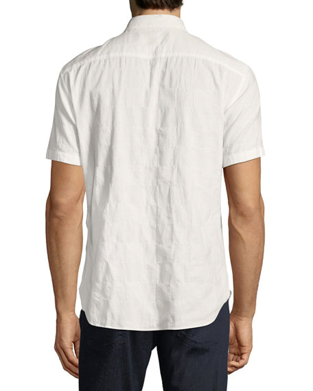 Chest-Pocket Short-Sleeve Sport Shirt