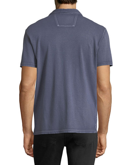 Pigment-Rubbed Polo Shirt
