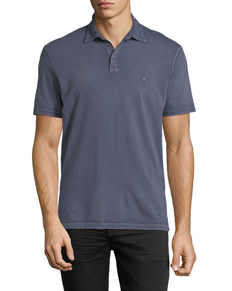 John Varvatos Star USA Pigment-Rubbed Polo Shirt