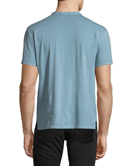 Sublime-Wash Short-Sleeve Henley Shirt