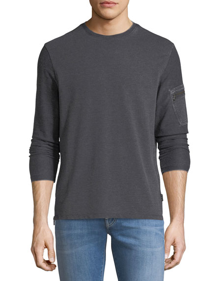 John Varvatos Star USA Burnout French Terry Sweatshirt