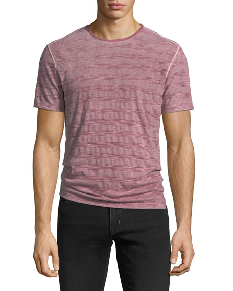 John Varvatos Star USA Reverse Spray Striped Crewneck