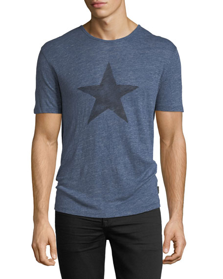 Star Graphic Linen T-Shirt