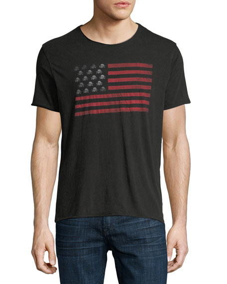 John Varvatos Star USA Skull Flag Graphic T-Shirt