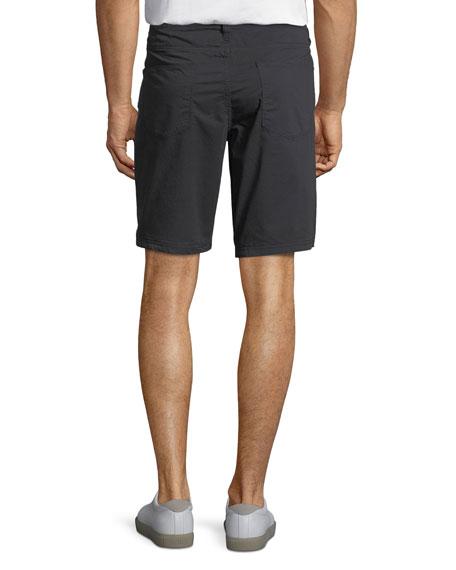Linen-Blend Casual Shorts