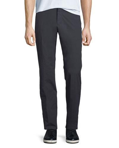 Men's Cotton-Blend Straight-Leg Pants