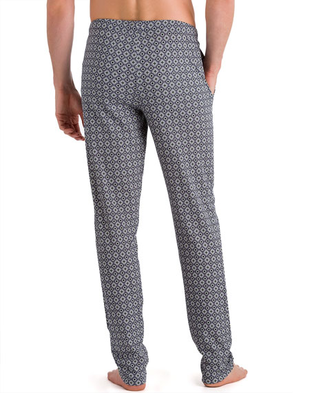 Basil Diamond-Pattern Knit Lounge Pants