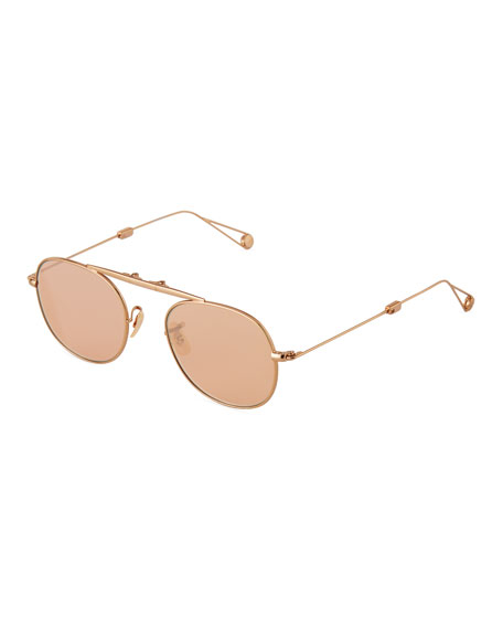 Garrett Leight Men's Van Buren Foldable Metal Sunglasses