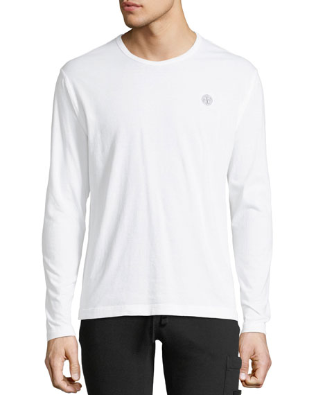Stone Island Long-Sleeve Cotton T-Shirt