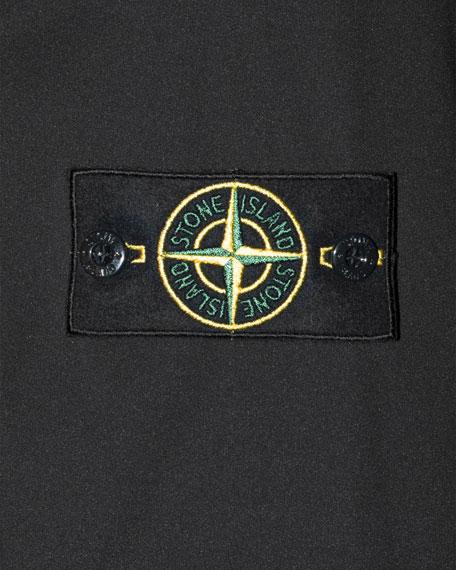 Solid Zip-Front Bomber Jacket