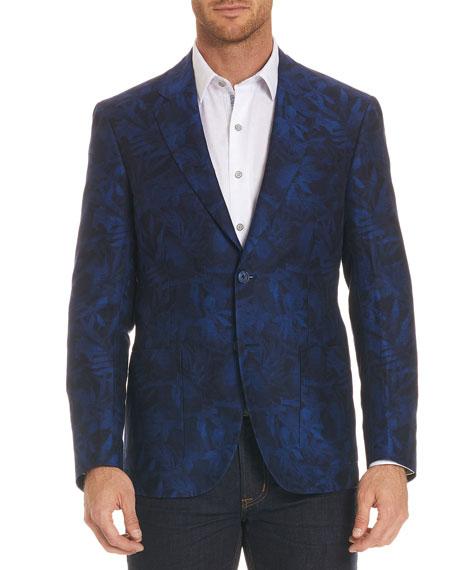 Buxons Floral-Pattern Linen-Blend Jacket