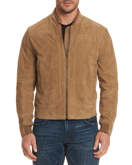 Ramos Suede Bomber Jacket