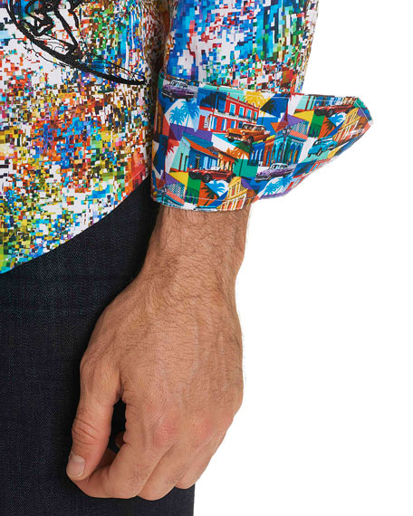 Splash Graphic-Print Sport Shirt