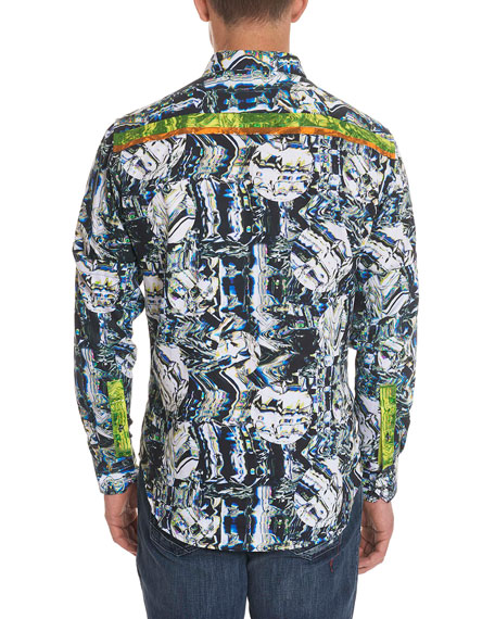 Limited Edition Swirl-Print Sport Shirt