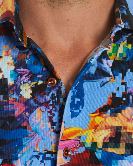 Santa Fe Pixelated Short-Sleeve Shirt
