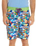 Mambo Car-Print Swim Trunks