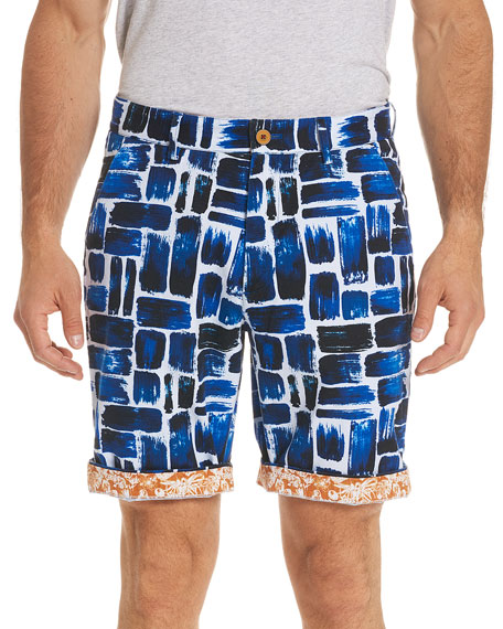 Varadero Square-Print Shorts
