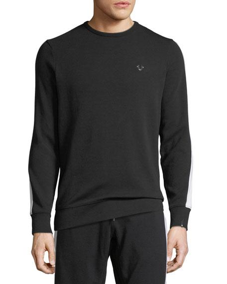 Crewneck Cotton-Blend Sweatshirt