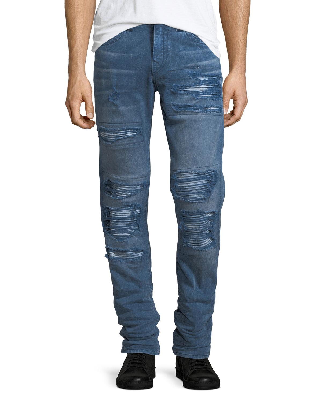 7e077fab7e4 True Religion Rocco Distressed Skinny Jeans