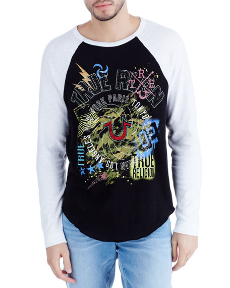 Logo Graphic Raglan Long-Sleeve T-Shirt