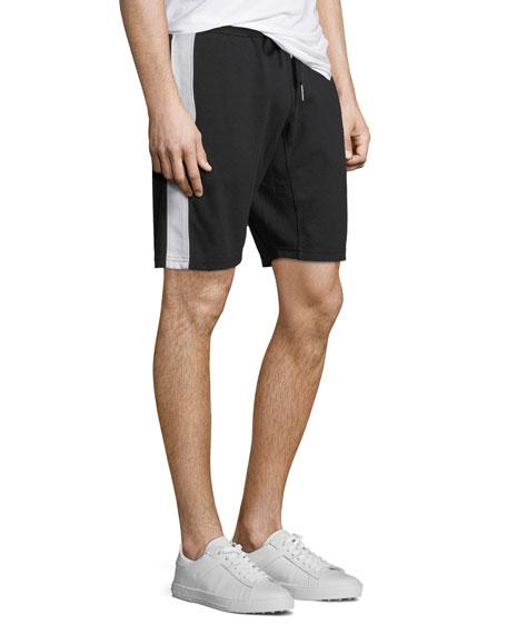 Contrast Side-Stripe Sweat Short