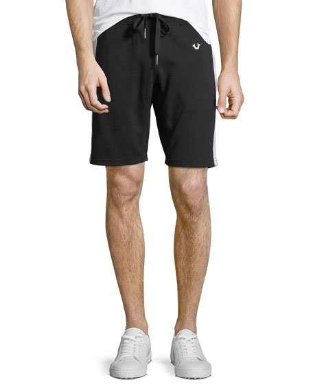 Contrast Side-Stripe Sweat Short